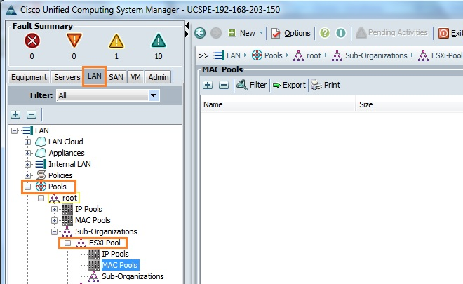 Cisco UCS manager - How to Create the MAC POOL ? - UnixArena