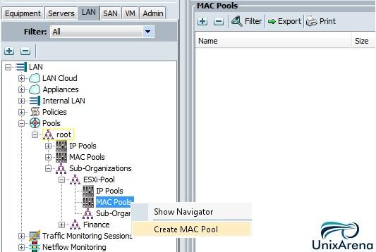 Create MAC Pool