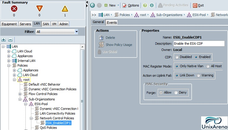 Create Network Control Policy
