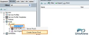 Create a  Server pool