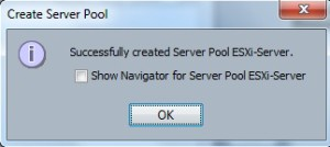 Server pool created