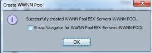 WWNN Pool creation