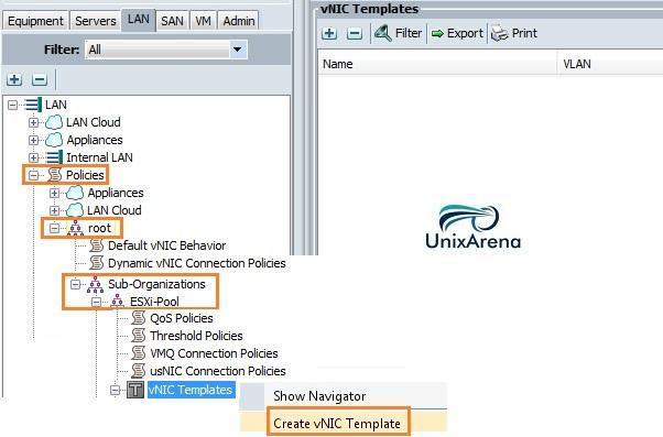 Create vNIC template