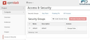 Access & Security - Openstack