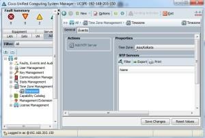 NTP on Cisco UCS