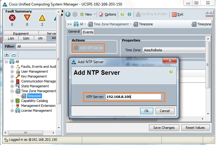 Cisco UCS - Configuring NTP and Configuration Backup - UnixArena