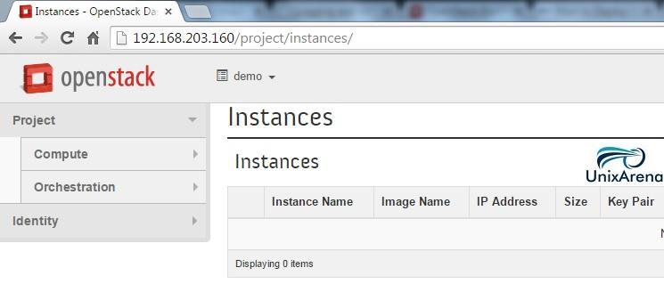 Openstack - Demo user
