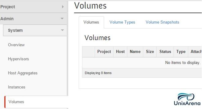 Openstack Volumes