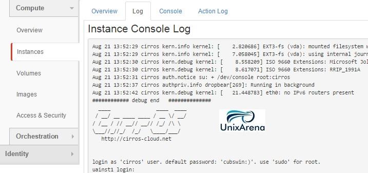 openstack instance log
