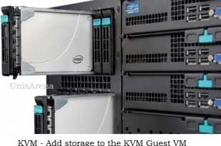 Add storage to the KVM guest VM