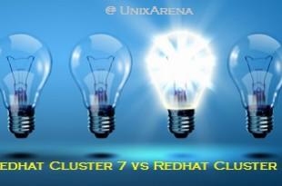 Redhat Cluster 7 vs Redhat cluster 6