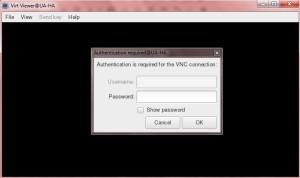 UAKVM2 Guest VNC window