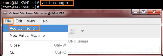 VMM on Management Node - KVM