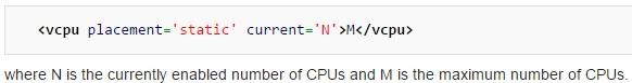 vCPU Format - KVM