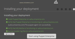 Installation Completed - Puppet