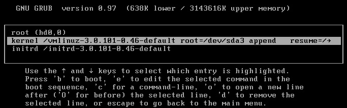 Edit the Kernel Line - VCSA 6.0