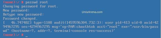 Set new root password