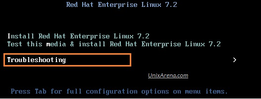 Boot the VM from RHEL 7.2 DVD.