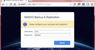 NAKIVO Backup & Replication - Webconsole