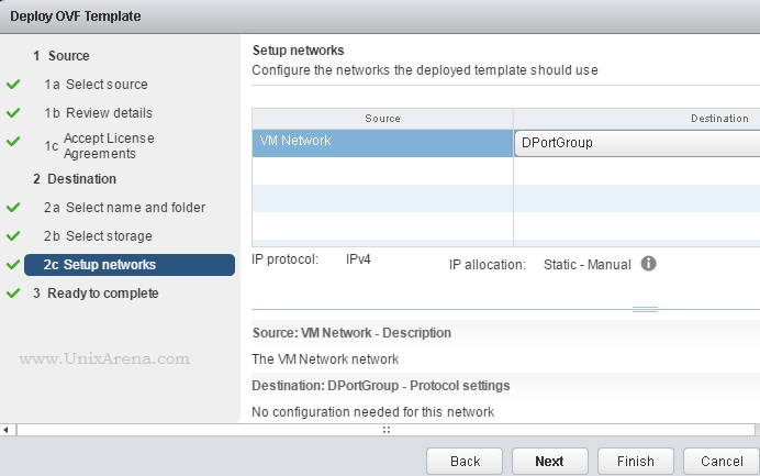 Select the VM network