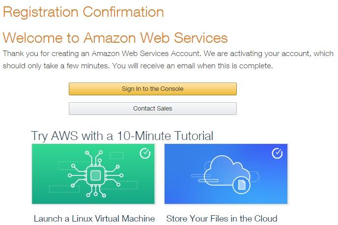 AWS  registration-complete