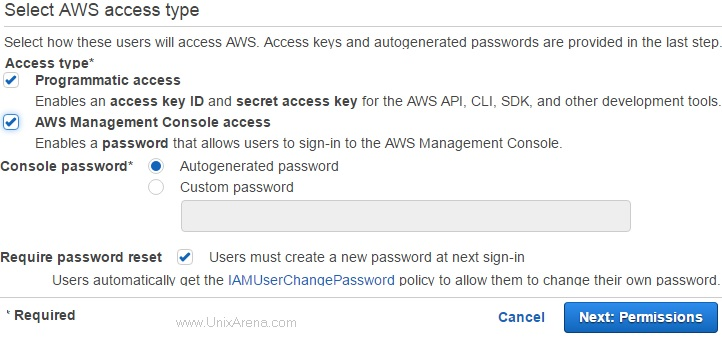 select-the-access-type-for-new-users