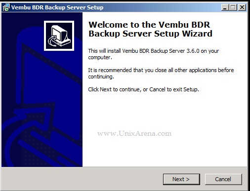 Vembu BDR Backup Server - On-Premises Deployment - Part 2 - UnixArena