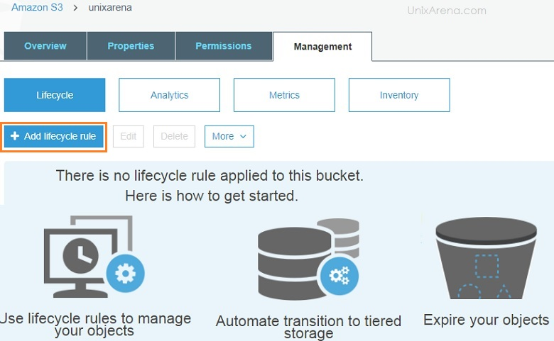 Add Lifecycle Rule -S3