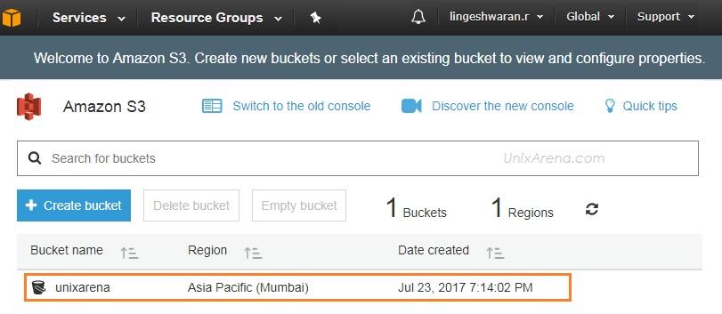 Bucket Listing