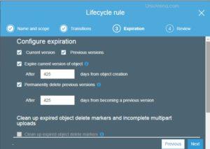 Configure object expiration