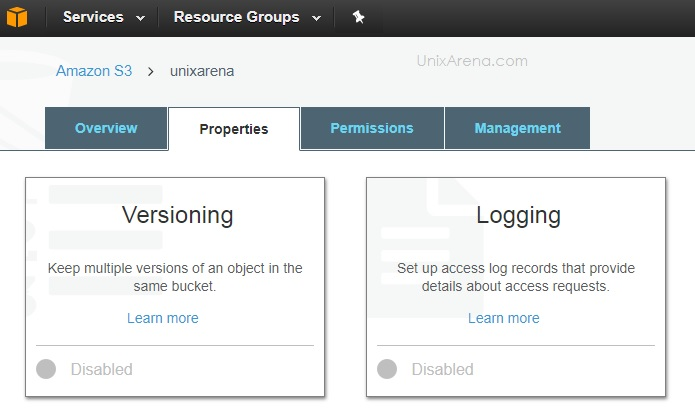 Enable Versioning - AWS S3