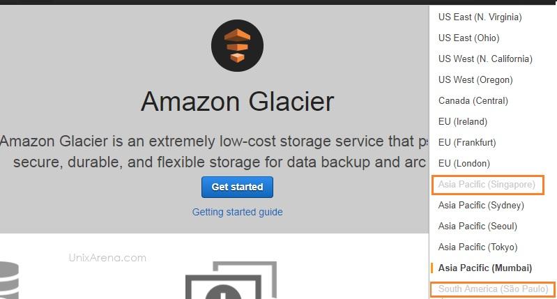 Glacier DataCenter options