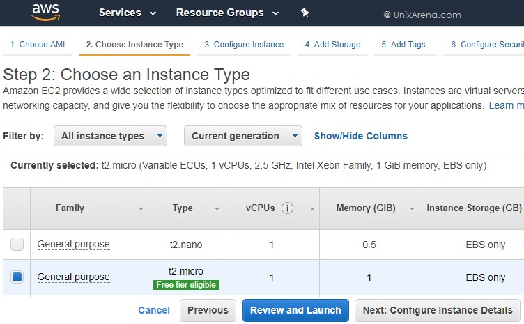 Choose AWS Instance Type