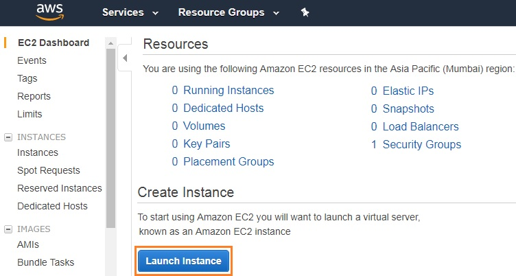Launch Instance - AWS