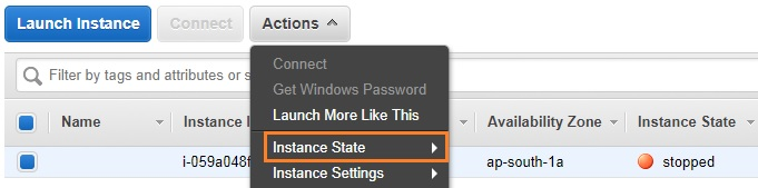 Start the EC2 instance - AWS