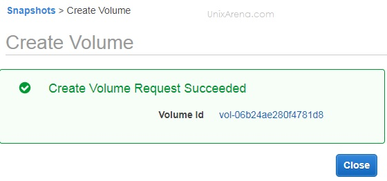 Volume Created - AWS
