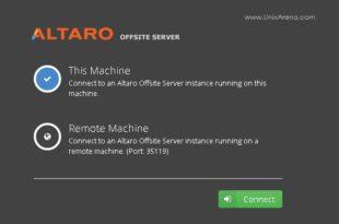 Altaro VM Backup - Connect to an Altaro offsite Server