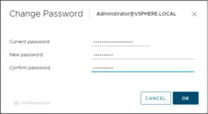 Change VCSA 6.5 password - VMware
