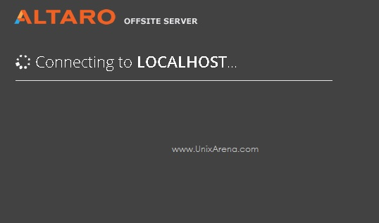 Connecting to Localhost - Altaro VM backup