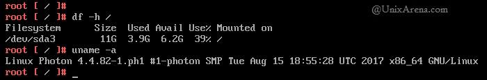 root bash prompt - VCSA 6.5