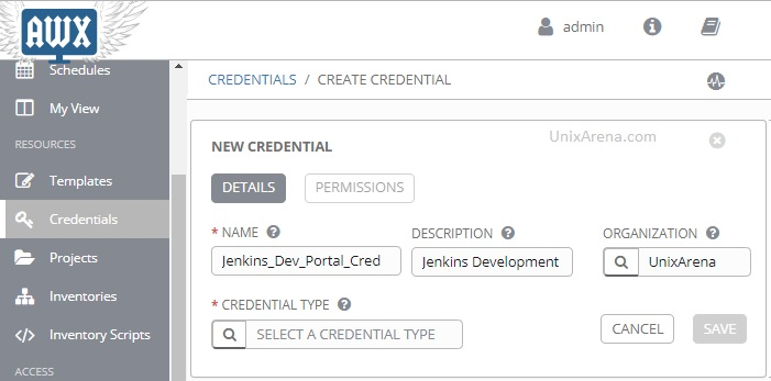 Ansible Tower / AWX - Store Credential & Custom Credentials