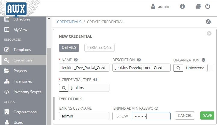 Ansible Tower / AWX - Store Credential & Custom Credentials Type