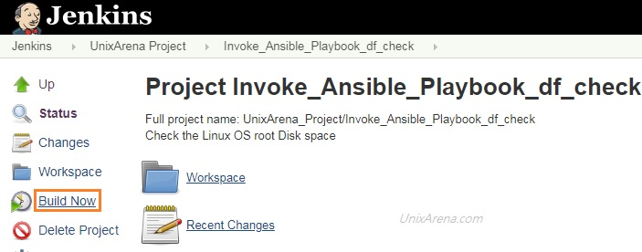 Ansible Engine - Run Playbook using Jenkins - GUI - UnixArena