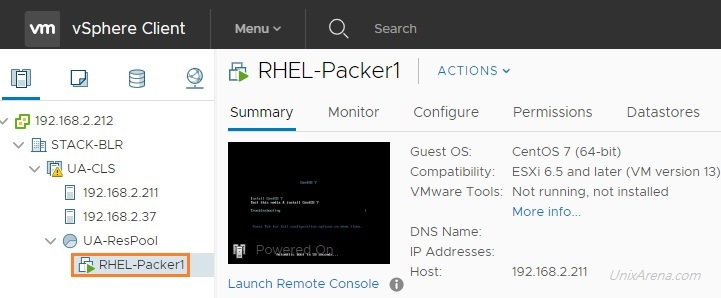 Packer Automation - Build Redhat/CentOS VM on VMware vSphere - UnixArena