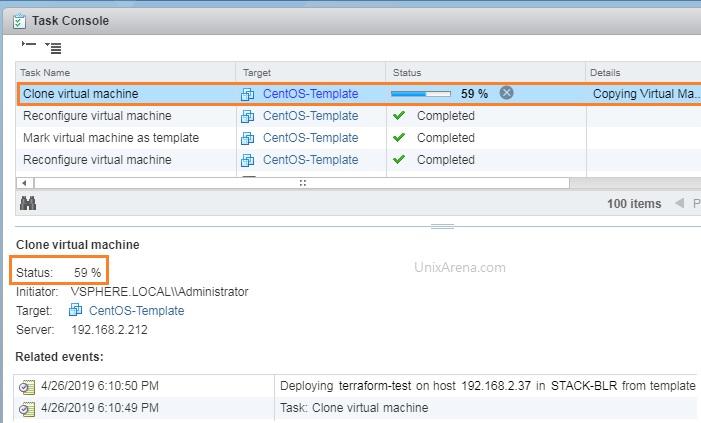 VMware vSphere - Build VM using Terraform - Cent OS/RHEL (Redhat